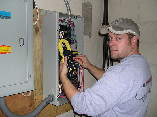 Higher Power Electrician making electrical repairs
