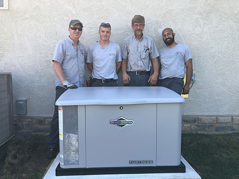 Generator Installation Team from Higher Power Electric Columbus OH